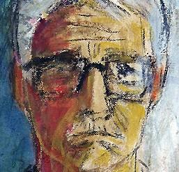 Gösta Werner, självporträtt beskuren