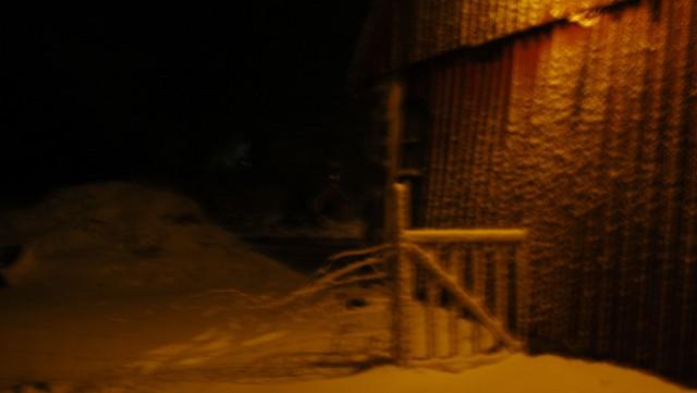 Det här är inte snön som faller i år. Den föll 2010 men det ser ungefär likadant ut.